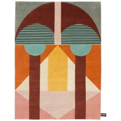 CC-Tapis Chipo Geometric African Mask Rug by Studio Zaven