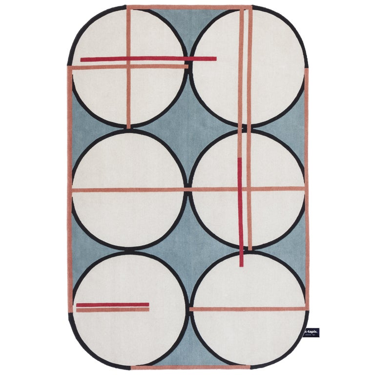For Sale: Blue CC-Tapis Credenza Soie Rug by Patricia Urquiola & Federico Pepe