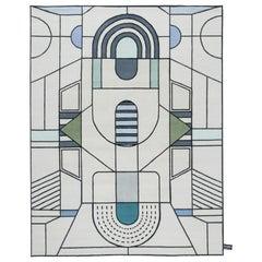 CC-Tapis Eulero Pitagora Outline Rug by Elena Salmistraro