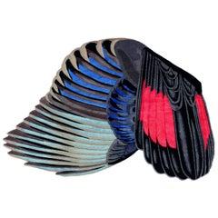 CC Tapis Feathers Freeform Handknotted Tibetan Rug by Maarten De Ceulaer