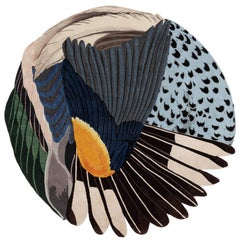 CC-Tapis Feathers Round by Maarten De Ceulaer
