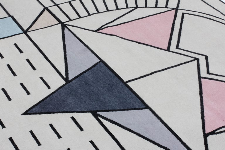 CC-Tapis Flatlandia Cartesio Outline Rug by Elena Salmistraro In New Condition For Sale In New York, NY