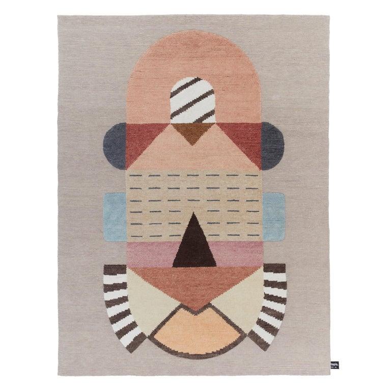CC-Tapis Flatlandia Cartesio Rug by Elena Salmistraro For Sale