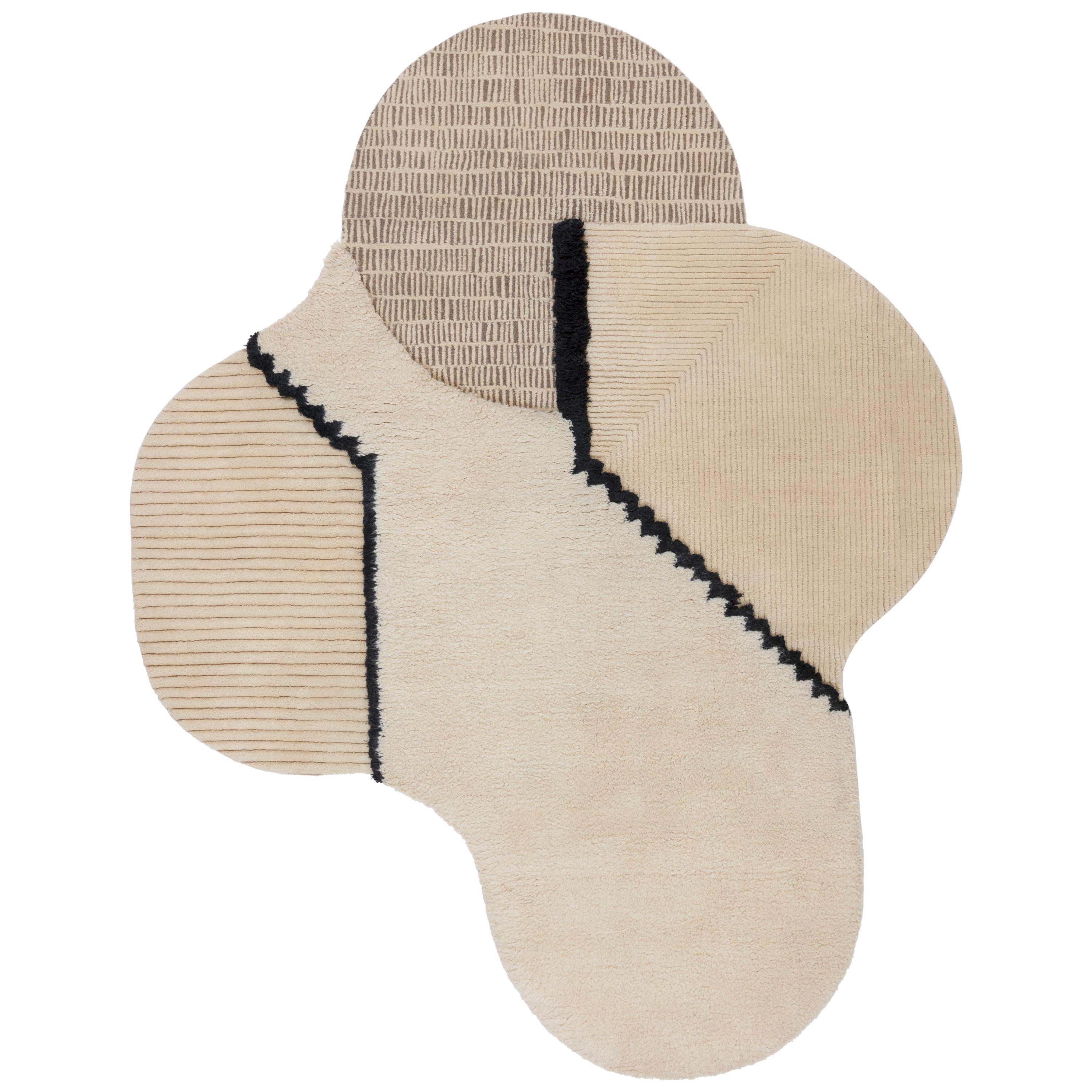 CC-Tapis Lunar Addiction Rectangle Undyed Rug by Studiopepe