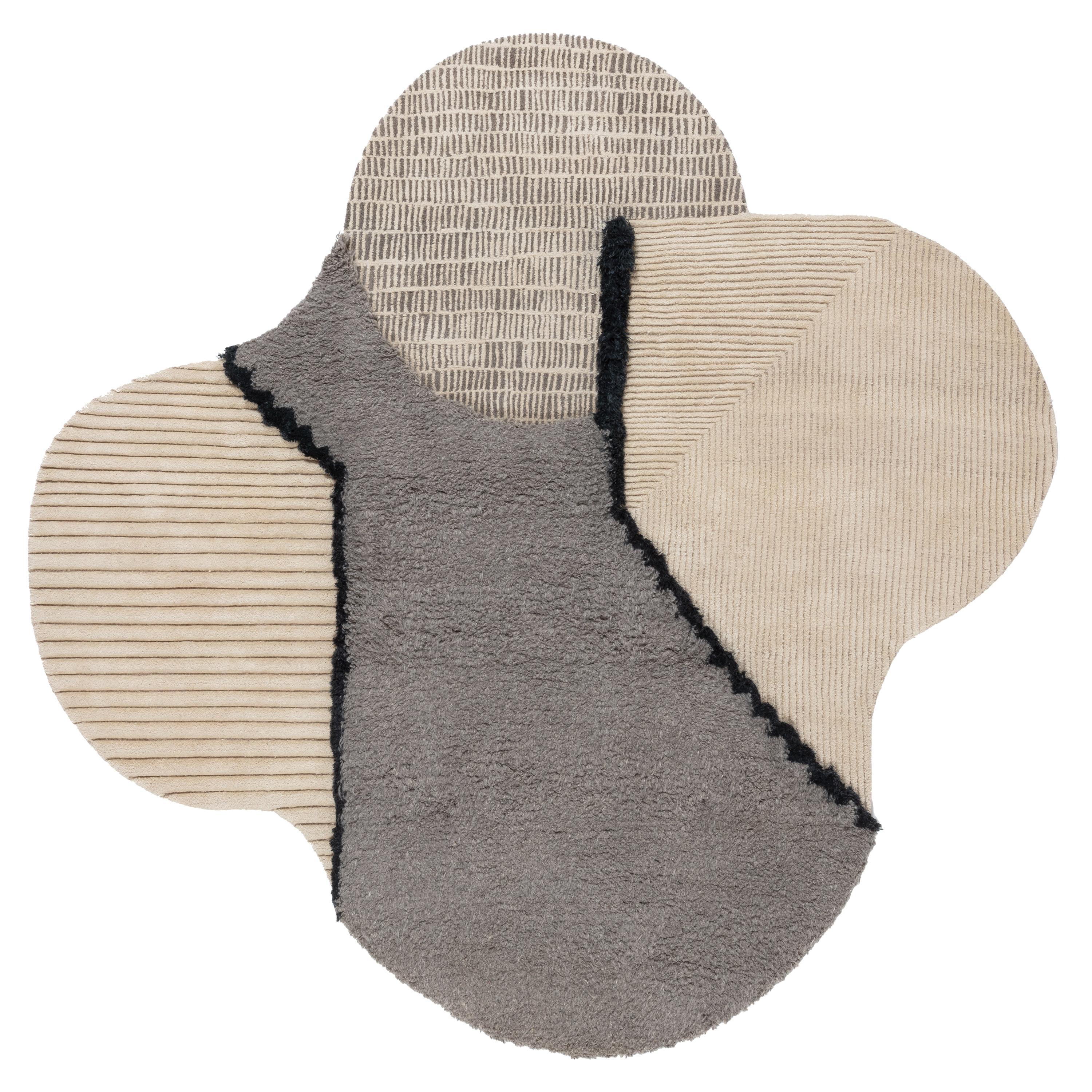 CC-Tapis Lunar Addiction Square Undyed Rug by Studiopepe