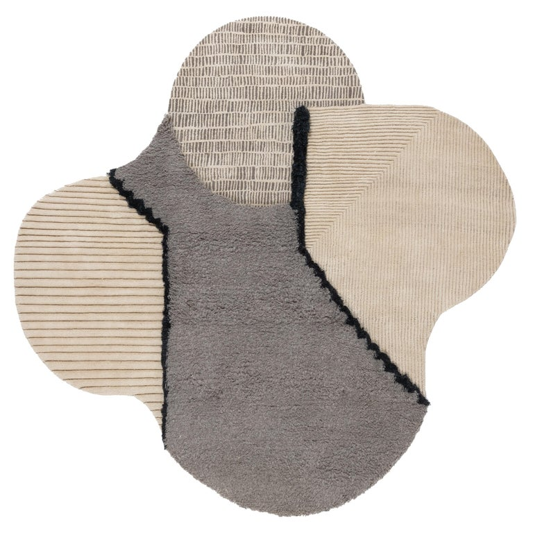 CC-Tapis Lunar Addiction Square Undyed Rug by Studiopepe For Sale