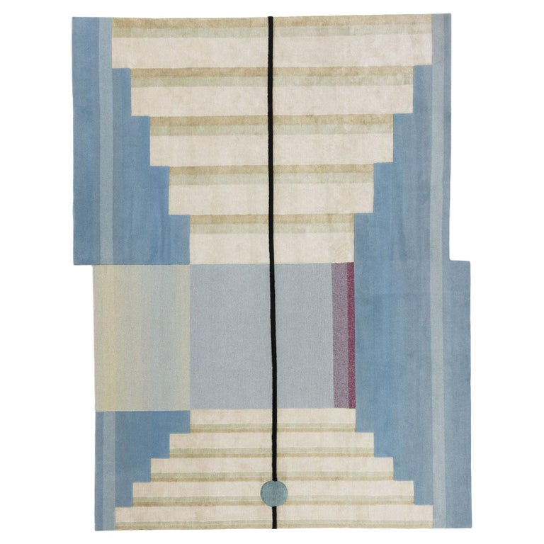 Gesture CC Tapis Mindscape Stage Handmade Rug in Wool and Silk by Mae Engelgeer For Sale