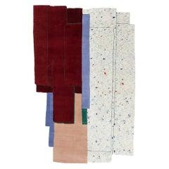 CC Tapis Patcha Standard Handmade Rug in Burgandy by Patricia Urquiola