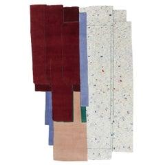 Gesture CC Tapis Patcha Standard Handmade Rug in Burgandy by Patricia Urquiola