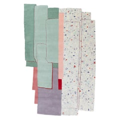 CC Tapis Patcha Standard Handmade Rug in Mint by Patricia Urquiola