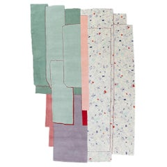 CC-Tapis Patcha Standard Handmade Rug in Mint Multicolor by Patricia Urquiola
