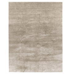 cc-tapis Plain Rug in Bamboo Silk High Pile
