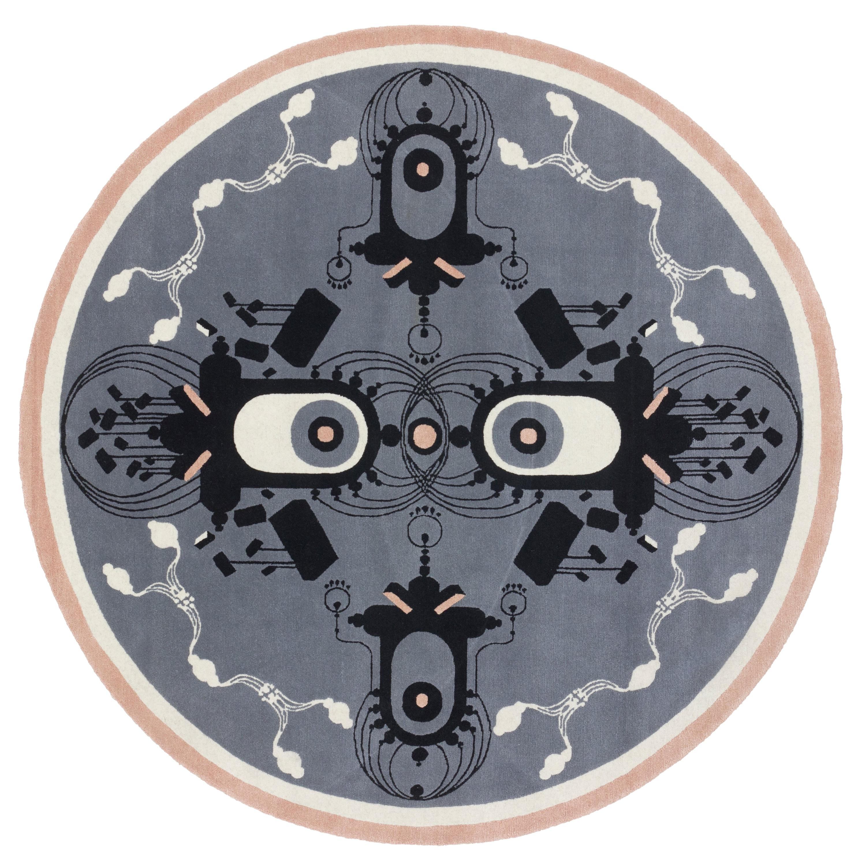 CC-Tapis Round Turlurette Rug by Federico Pepe