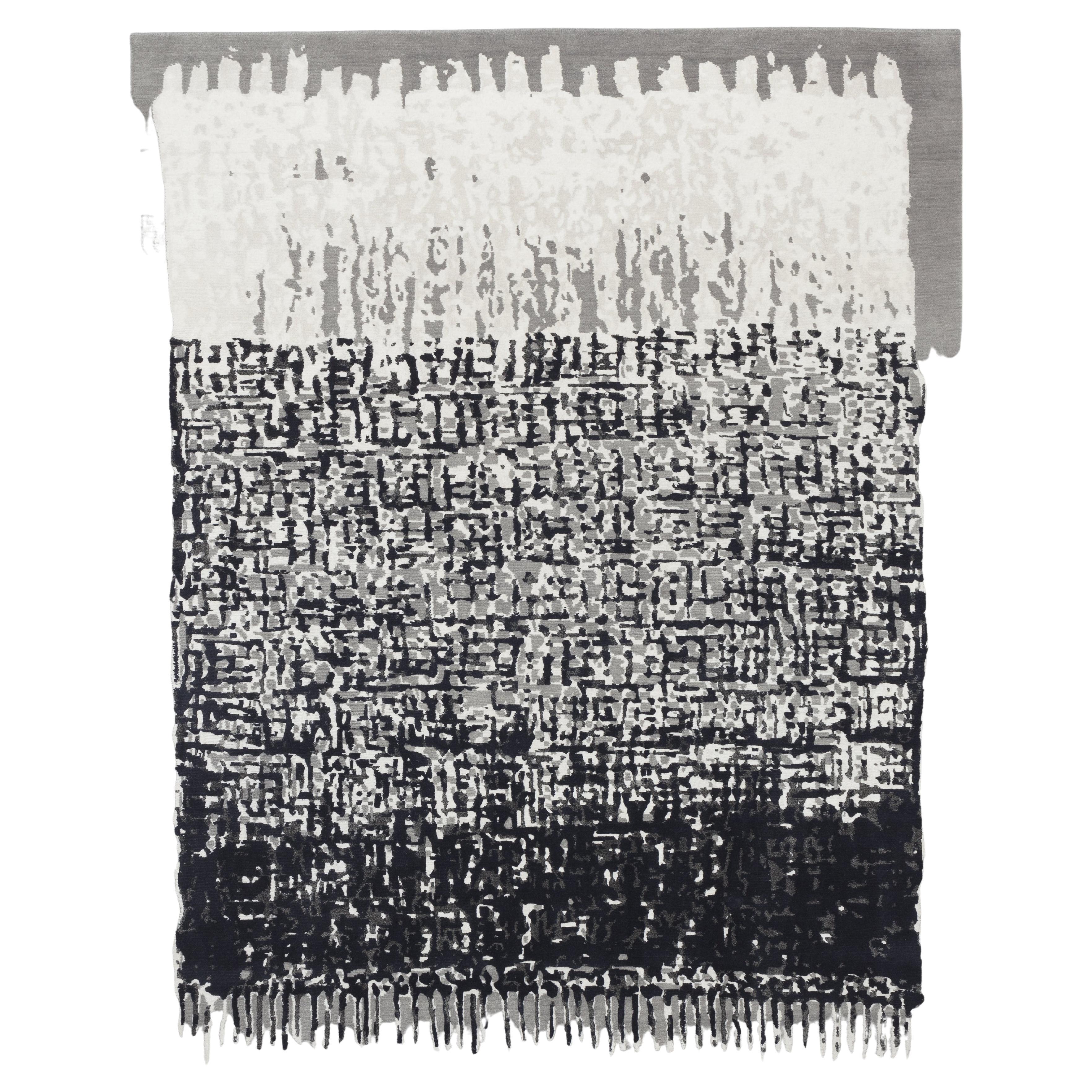 CC-Tapis Sacha Rug Black & White by Nelly Maye