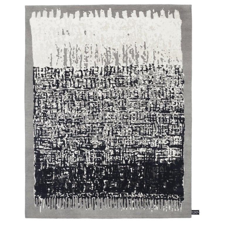 For Sale: Black (Black & White) CC-Tapis Sasha Rug by Nelly Maye