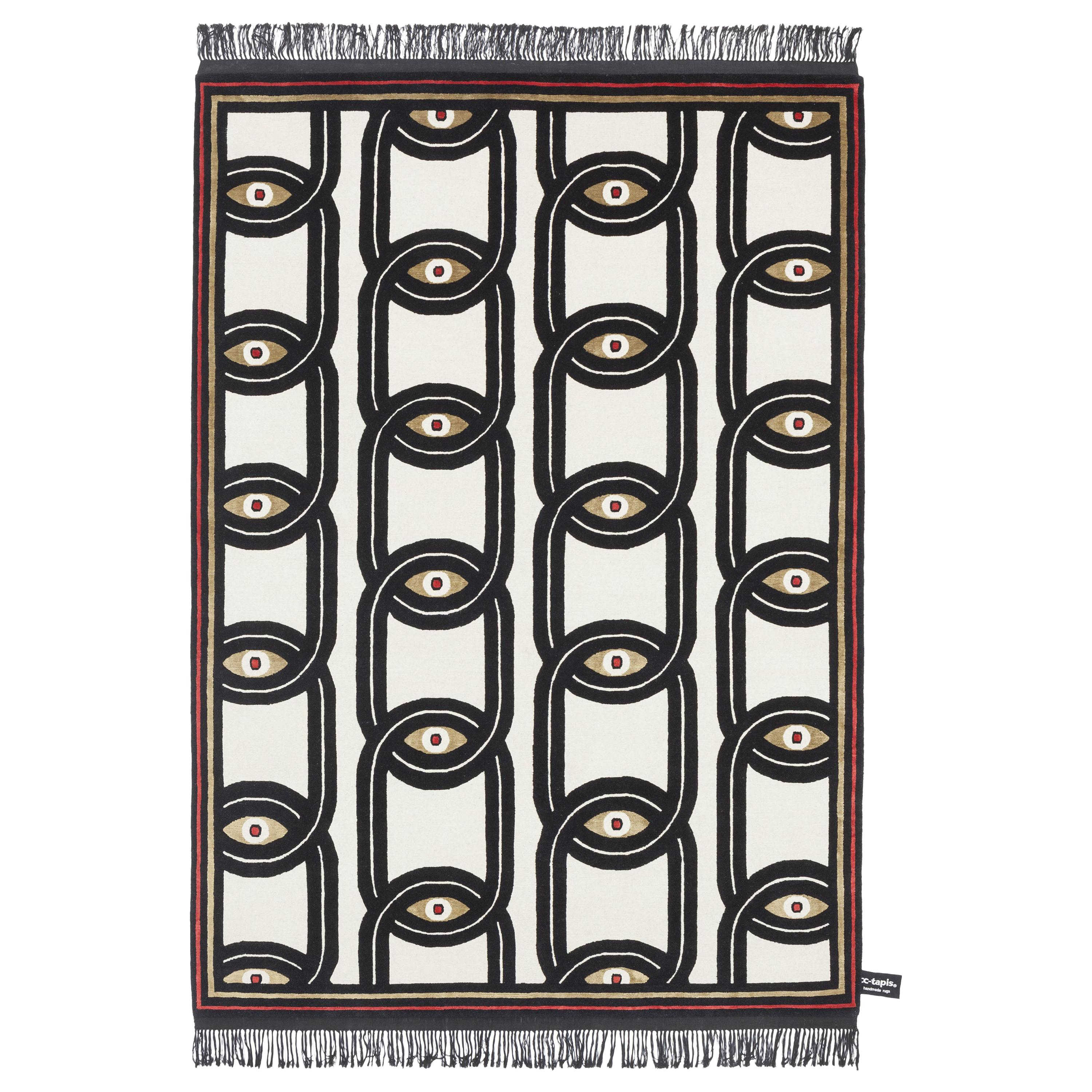 CC-Tapis Eyes in Chains Rug by Federico Pepe