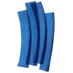 Gesture CC Tapis Stroke 1.0 Handmade Blue Rug in Wool by Sabine Marcelis