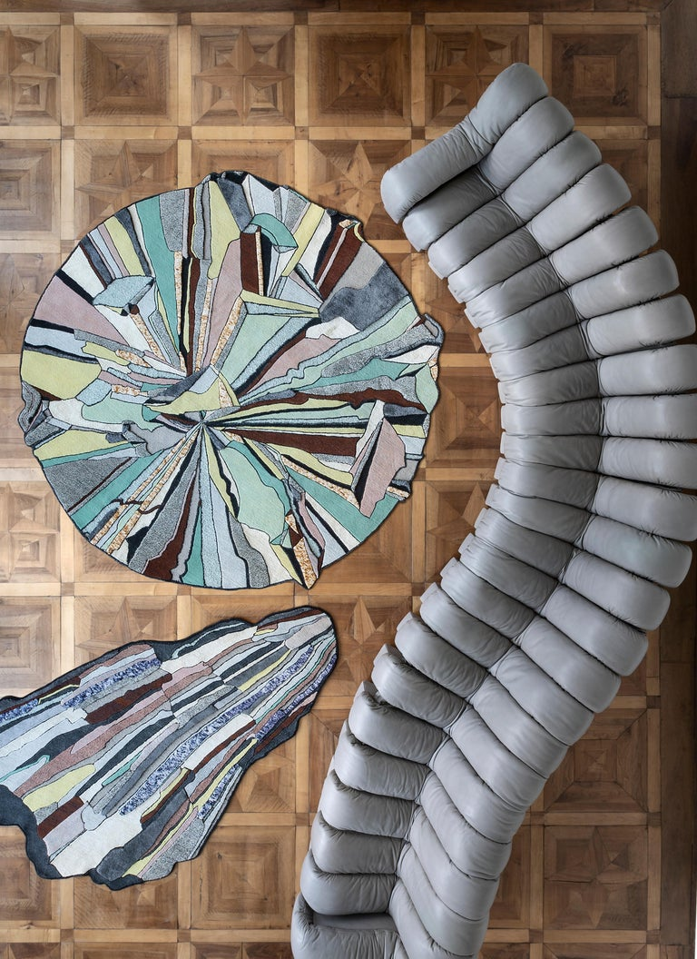 Modern CC-Tapis Super Fake Super Round Rug by Bethan Laura Wood For Sale