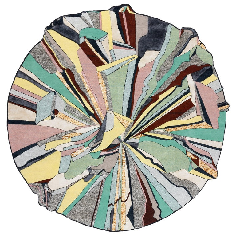 For Sale: Multi (Moon) CC-Tapis Super Fake Super Round Rug by Bethan Laura Wood