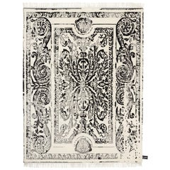 CC Tapis Traces De Savonnerie Black and White Rug
