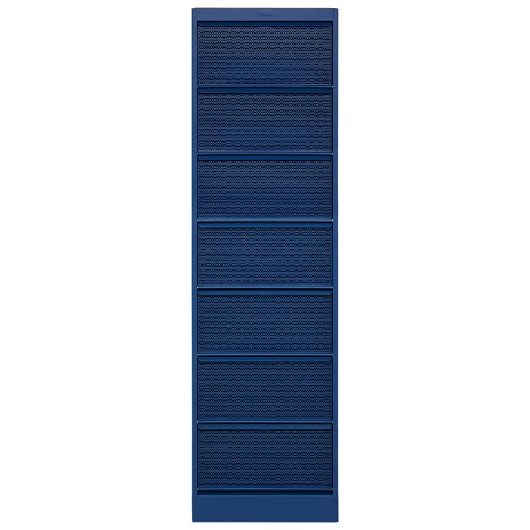 CC7 Perforated Industrial Cabinet in Blueberry by Xavier Pauchard and Tolix For Sale