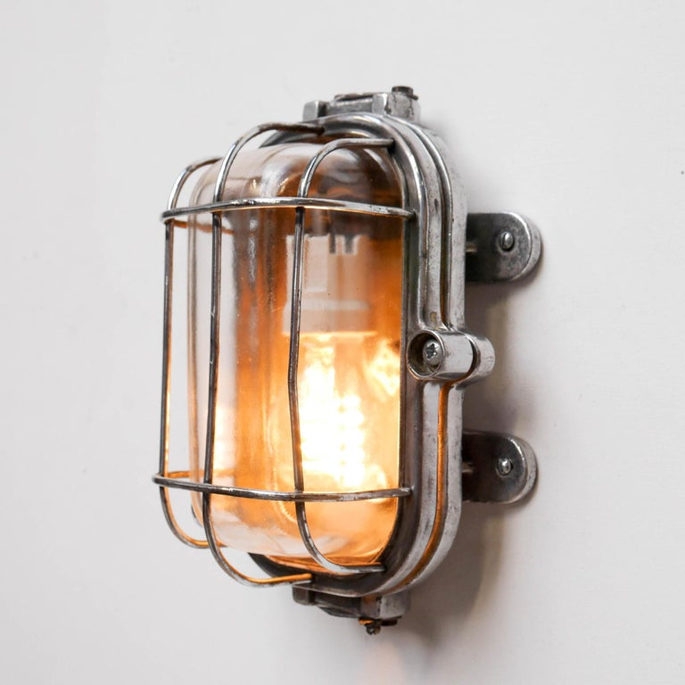 Russian Cccp Fenced Wall Light, Russia, circa 1950 For Sale