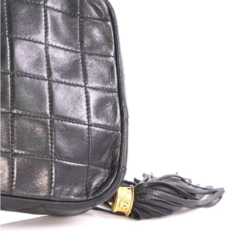 ff4fa4d58d81 CChanel Vintage Diamond Tassel Crossbody Quilted Lambskin Small For Sale 1