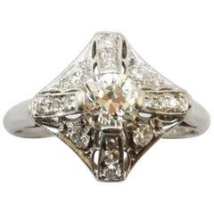 C.D. Peacock Diamond Art Deco Ring