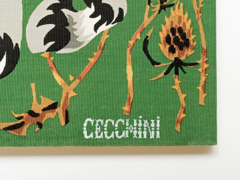 Mid-20th Century Cecchini Horse Tapestry For Sale