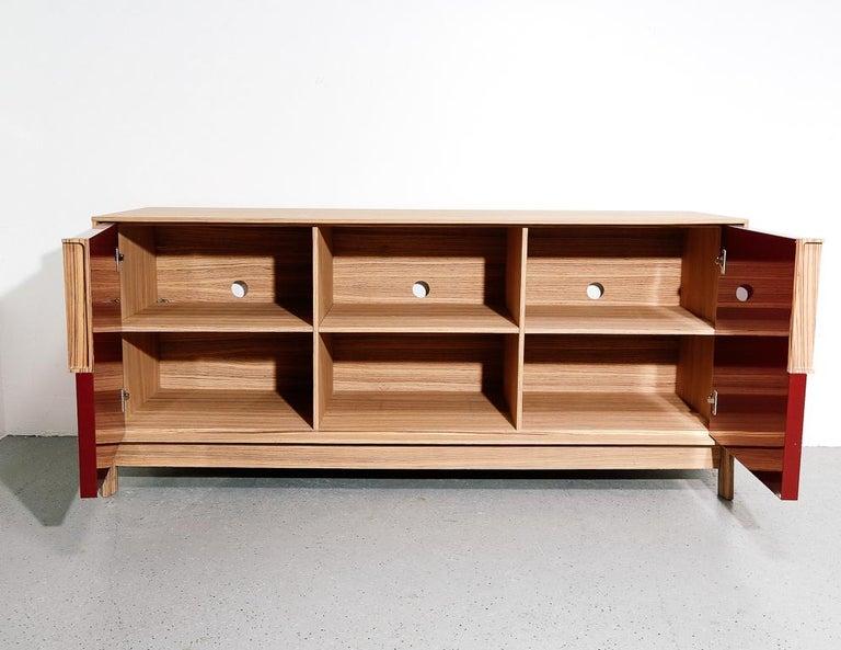 Cecchini Zebrawood Credenza In Good Condition For Sale In Brooklyn, NY