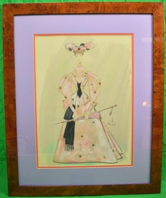 """Cecil Beaton circa 1950 Watercolour """"The Second Mrs Tanqueray"""""""