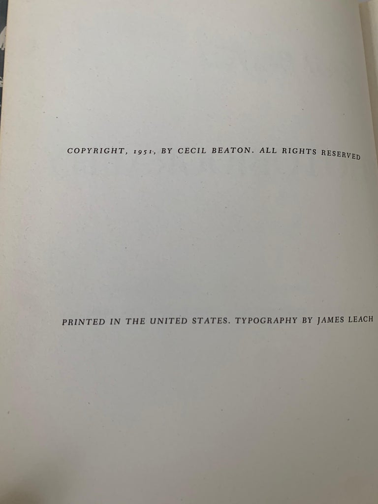Paper Cecil Beaton Photography First Edition For Sale