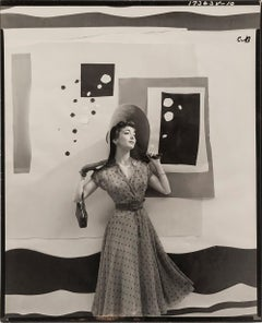Carmen Dell'Orefice with Cutout Backdrop for 'Vogue', 1949 - Fashion Photography