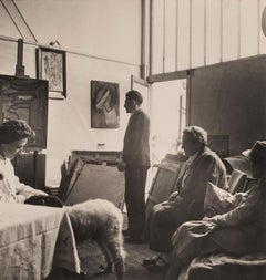 Gertrude Stein And Alice B. Toklas Discover A New Painter Named Atlan, c.1930s