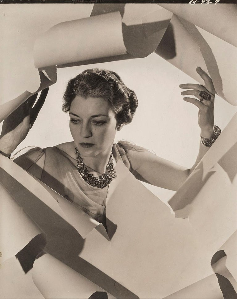 Inscribed with 'Mrs Harrison Williams' in unknown hand and stamped with photographer's and Sotheby's Cecil Beaton studio ink stamps on reverse Silver gelatin print, printed c.1936 10 x 8 inches Provenance: the collection of Paul F. Walters