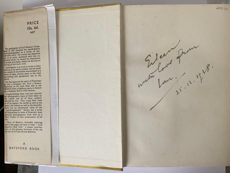 British Cecil Beaton's New York First Edition For Sale