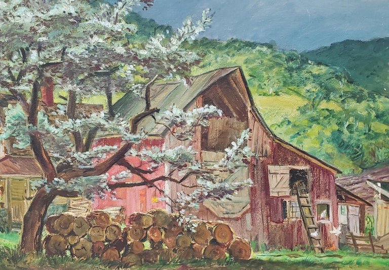 Silver Maple Barn At Blanchards  - Painting by Cecil Crosley Bell