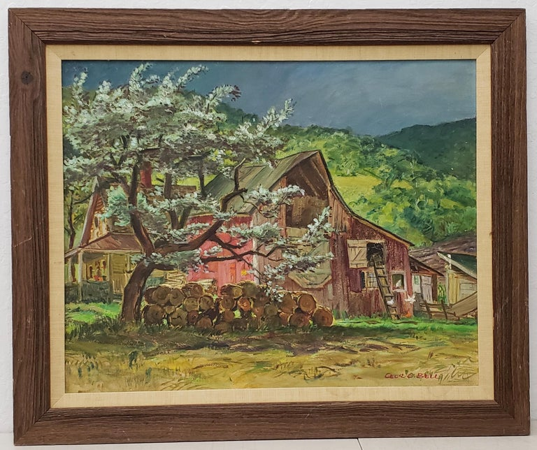 Cecil Crosley Bell Landscape Painting - Silver Maple Barn At Blanchards