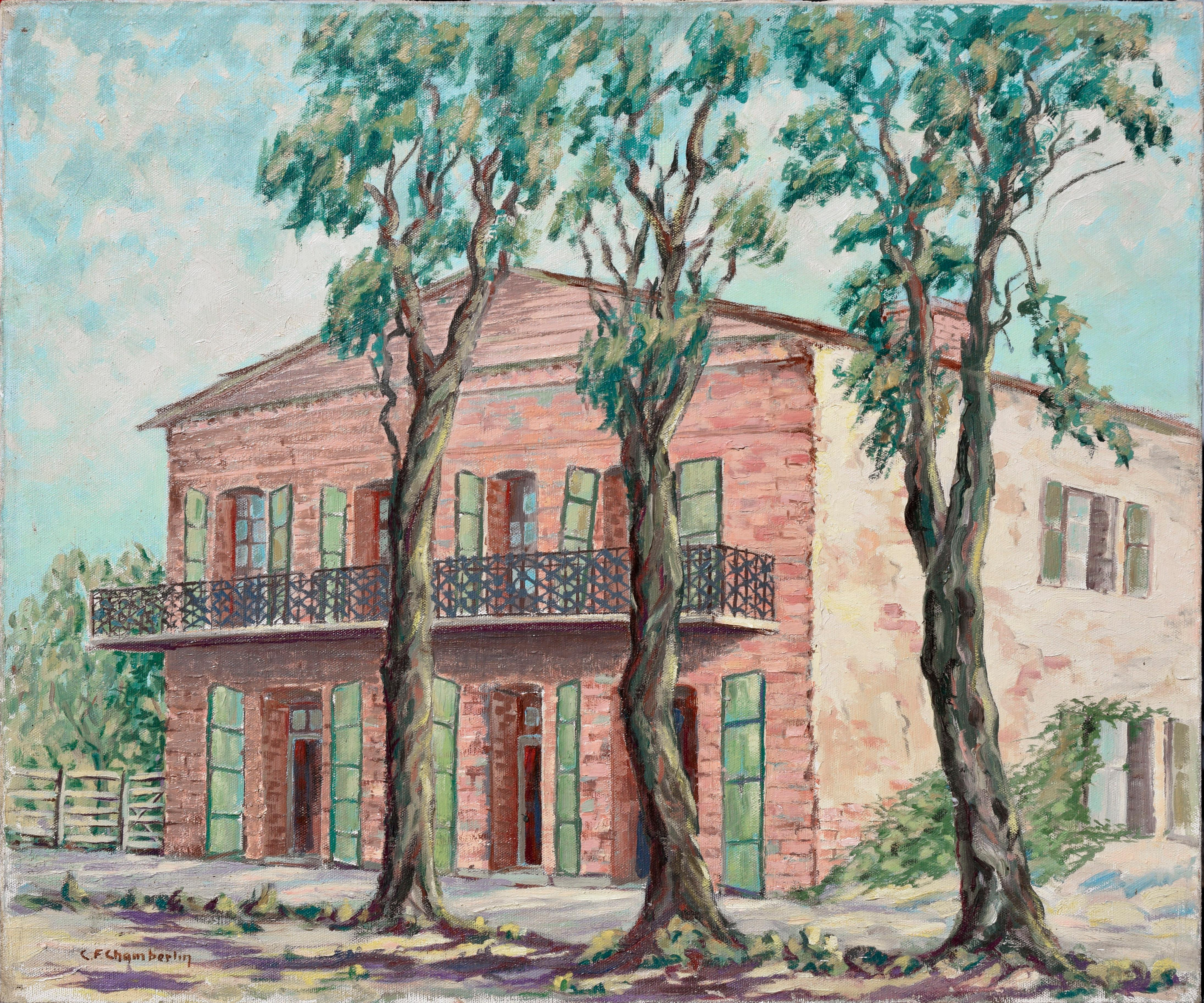 """Old Store, Copperopolis California"" - Mid-Century Village Landscape"