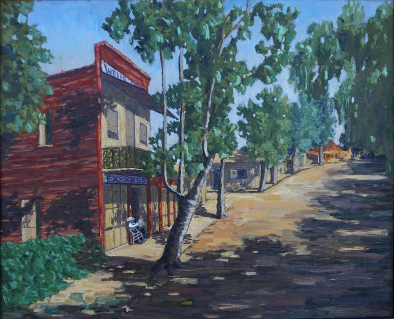 Wells Fargo Express, Gold Country -- Columbia, California  - Painting by Cecil F. Chamberlin