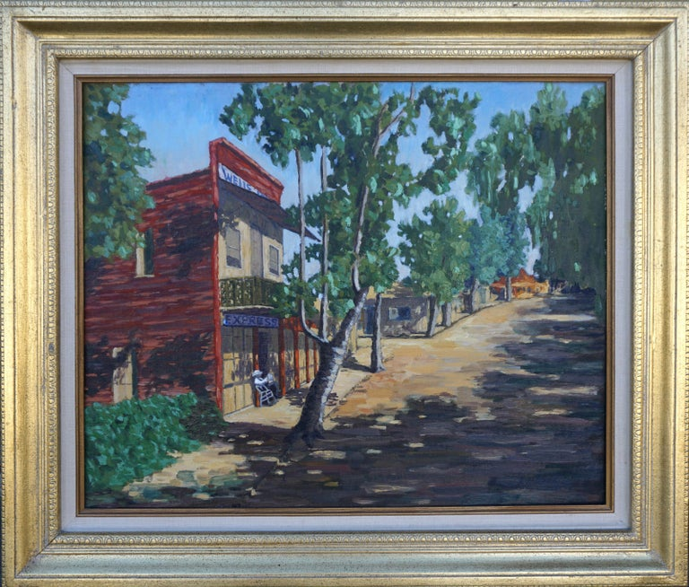 Cecil F. Chamberlin Landscape Painting - Wells Fargo Express, Gold Country -- Columbia, California