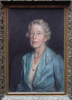 Mignon Margaret Muirhead Tanner - Oil portrait Mother Daughter George Medal WW2