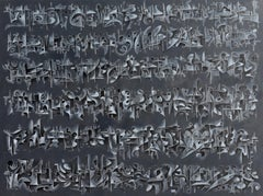 Chalk & Acrylic Painting on Canvas Titled: PDP 1140 2020