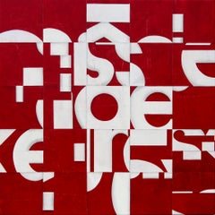 Large Painting on Birch Panel Titled: PDP 706