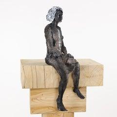 Inès - Female Portrait, Ceramic Sculpture