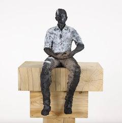 Passi - Male Portrait, Ceramic Sculpture