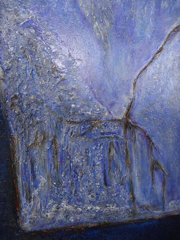 Cécile Roncier, Painting Blue Marge, 2017 For Sale 3