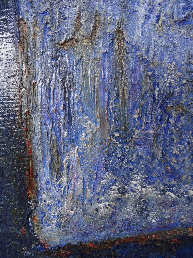 Cécile Roncier, Painting Blue Marge, 2017 For Sale 4