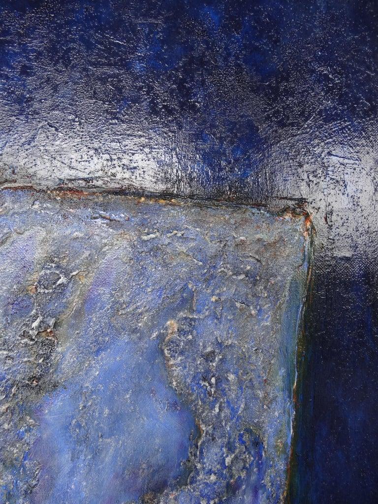 Cécile Roncier, Painting Blue Marge, 2017 For Sale 6