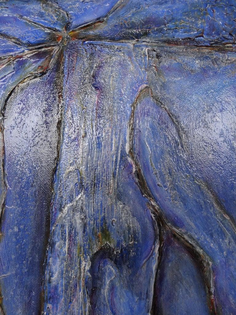 Cécile Roncier, Painting Blue Marge, 2017 For Sale 7